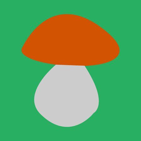 mushroom boletus vector illustration
