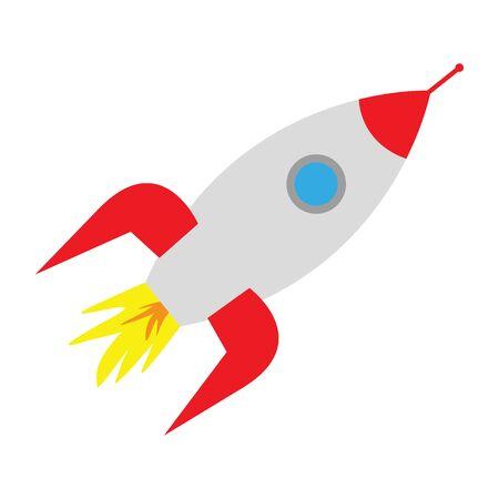 space rocket on white background Illustration
