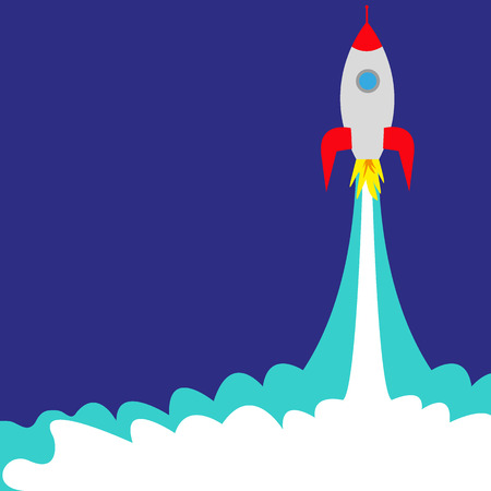 launch of a space rocket ship
