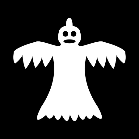 cartoon ghost on a black background Illustration