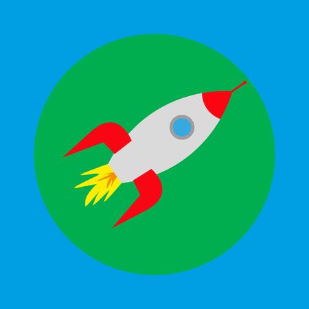 space rocket icon Stock Vector - 88306234