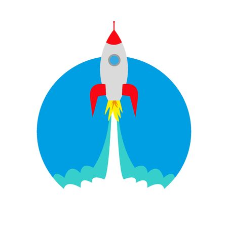 launch of a space rocket ship, icon