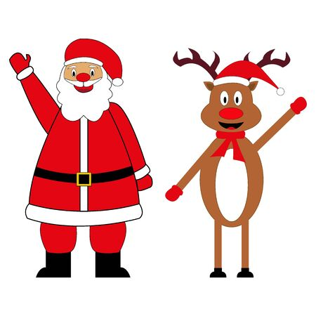 Santa Claus and Christmas reindeer