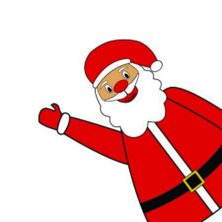 Santa Claus standing on a white background