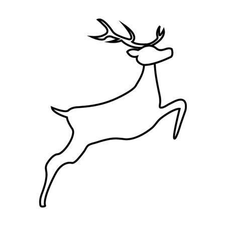 Reindeer isolated on white background Çizim