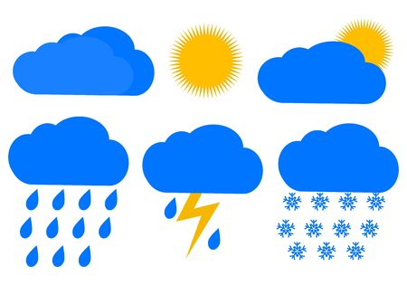 Weather icons Vector illustration.