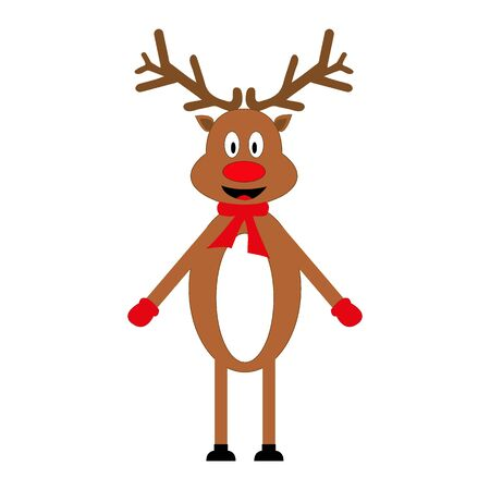 new: Cheerful cartoon reindeer Illustration