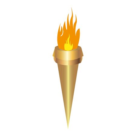 torch on white background