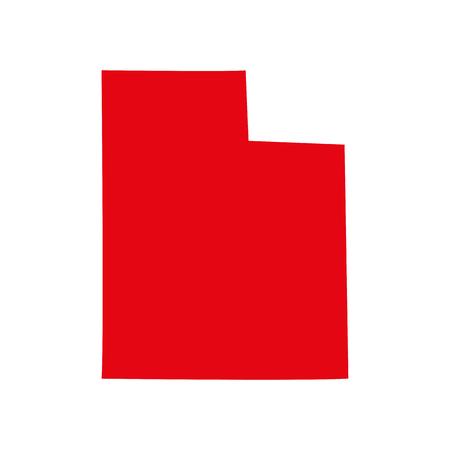 map of the U.S. state of Utah