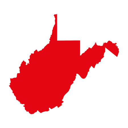 map of the U.S. state of West Virginia Ilustrace