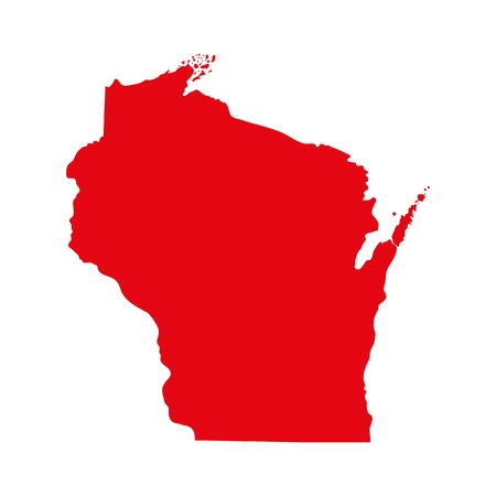 map of the U.S. state of Wisconsin 向量圖像