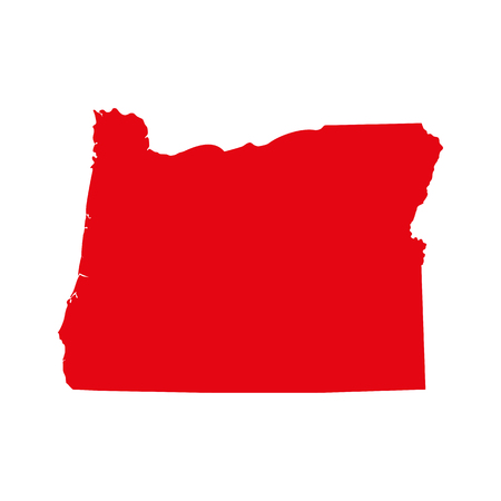 A map of the U.S. state of Oregon isolated on plain background.