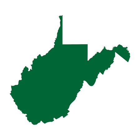 A map of the U.S. state of West Virginia isolated on plain background.