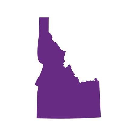 map of the U.S. state of Idaho Ilustração