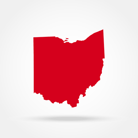 map of the U.S. state of Ohio Vettoriali