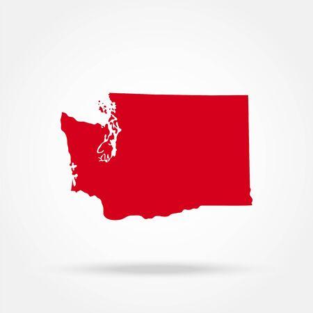 map of the U.S. state of Washington Ilustração