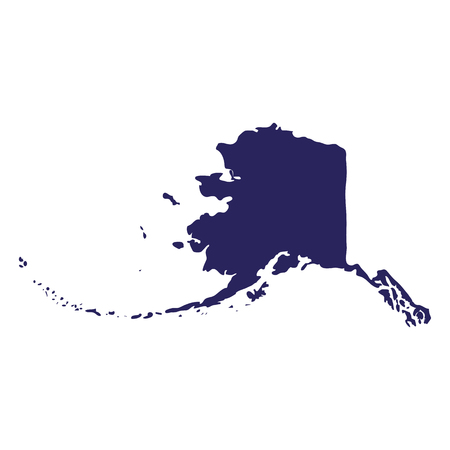 Map of the U.S. state of Alaska