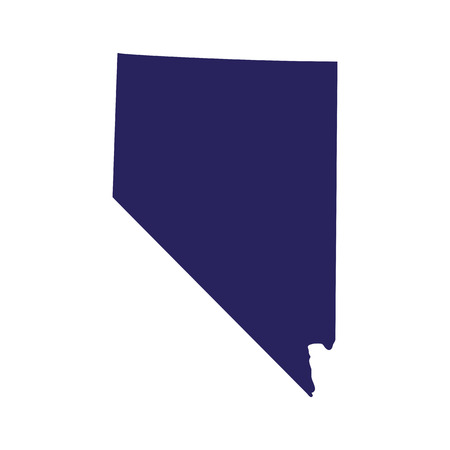 Map of Nevada on a white background Illustration