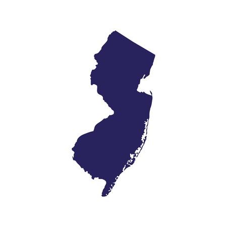 Map of New Jersey on a white background