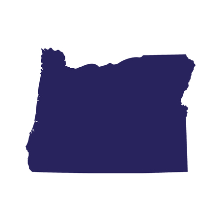 Map of Oregon on a white background