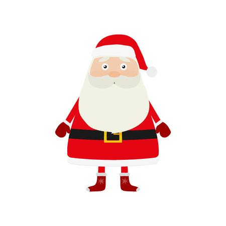 Santa Claus on a white background