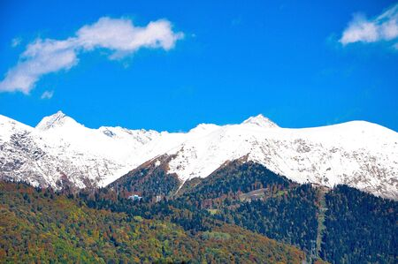 High mountains of the Caucasus in Sochi Banco de Imagens