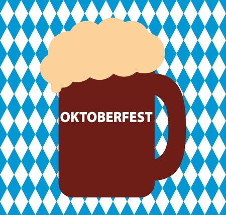 Bavarian flag seamless pattern for oktoberfest and beer Ilustração