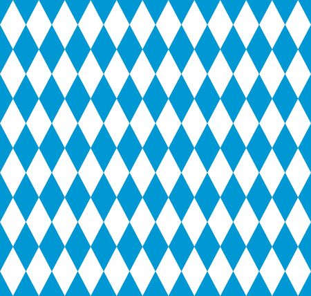 Bavarian flag seamless pattern for oktoberfest