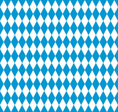 Bavarian flag seamless pattern for oktoberfest party