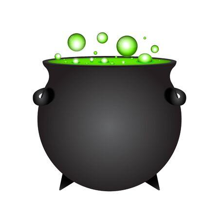 Potion de sorcière Halloween en pot isolated on white