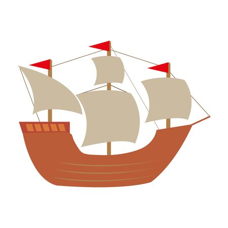 Sailing ship illustration 向量圖像