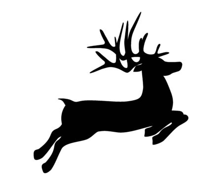 Reindeer is skipping for Christmas. Icon isolated on white