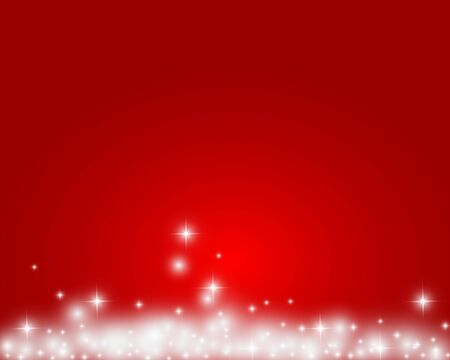 Christmas red shiny background with snowflakes and stars