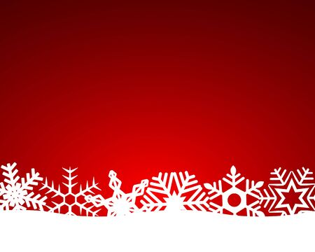Christmas red background with snowflakes and lightand light