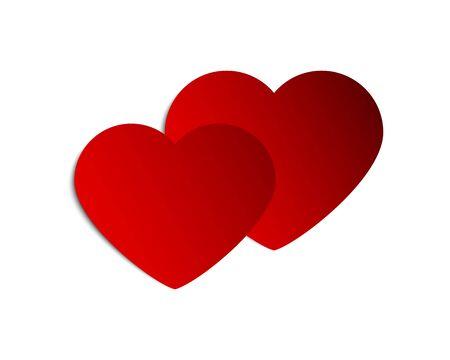 Coeurs de bannière pour les voeux de la Saint-Valentin