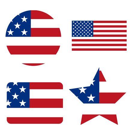Flag of the United States of America. Solid background. Reklamní fotografie - 138368737