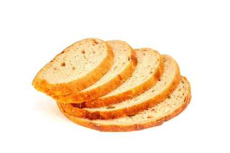 White soft fresh bread on a white background. Standard-Bild