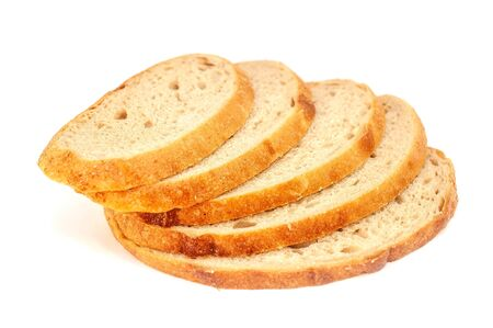 White soft fresh bread on a white background