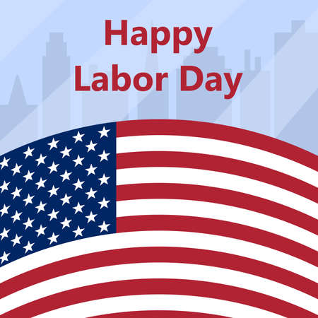 Happy Labor Day in the USA. Vector illustration postcard Ilustração