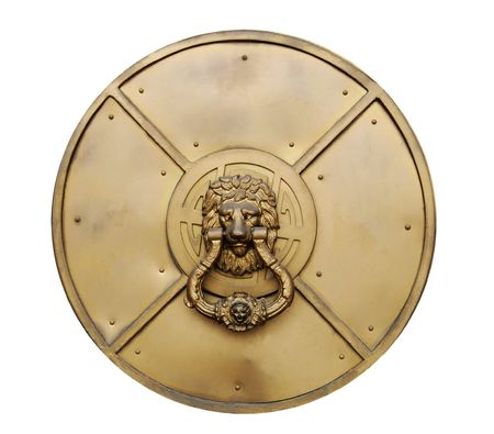 Lion head door knocker, Gold Museum in Lima, Peru photo