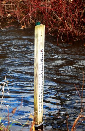 depth measurement: River level marker