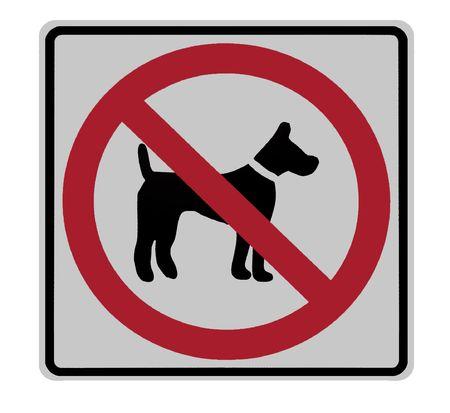 Signe de la route - aucun chiens admis  Banque d'images - 5984807