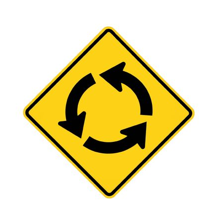road sign - roundabout Stock Photo - 5984811