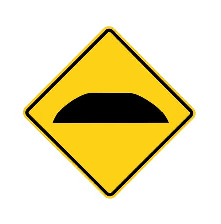 road sign - speed bump  photo