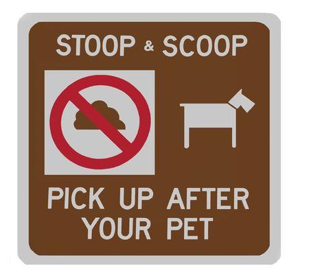 stoop:  Stoop & scoop sign