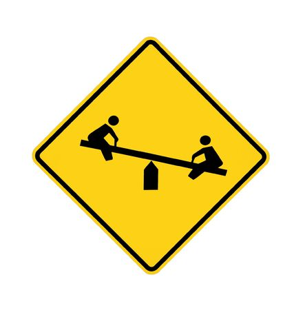 totter: road sign - playground