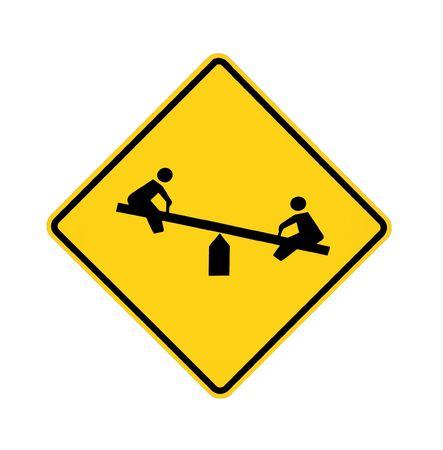 road sign - playground Stock fotó - 5984837