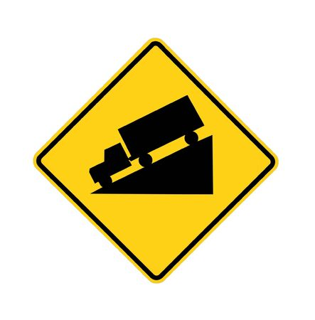 road sign - truck downhill