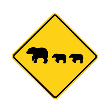 road sign - bears crossing  Stock Photo - 5984834
