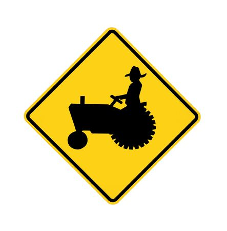 road sign - tractor Stock fotó - 6031942